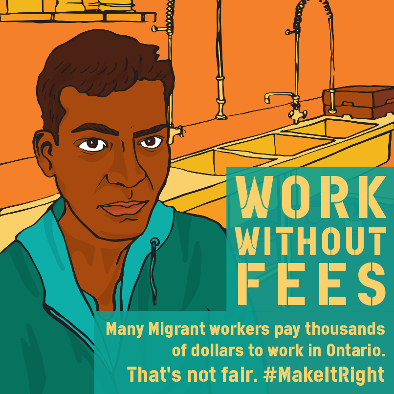 """I paid $1500 in Honduras to come work here in Canada. Here I worked in an unsafe job at a mushroom farm for a year to be able to pay back that debt. On top of that, my employer regularly stole my wages and I couldn't file a claim with the Ministry or I would have been fired and sent back home."" - Juan Miguel"