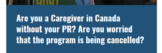What's happening with the Caregiver Program?